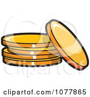 Clipart Gold Coins Royalty Free Vector Illustration by jtoons