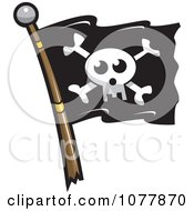 Clipart Skull Jolly Roger Pirate Flag Royalty Free Vector Illustration by jtoons