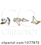 Clipart Hand Made Pirate Items Royalty Free Vector Illustration by jtoons