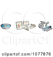Clipart Pirate Gear Items Royalty Free Vector Illustration by jtoons