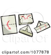 Clipart Sailboat Paper Folding Guide Royalty Free Vector Illustration by jtoons