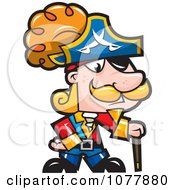 Clipart Pirate Captian Royalty Free Vector Illustration by jtoons