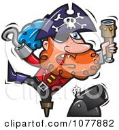 Clipart Pirate Shooting Off A Cannon Royalty Free Vector Illustration by jtoons