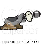 Clipart Pirate Cannon Royalty Free Vector Illustration by jtoons