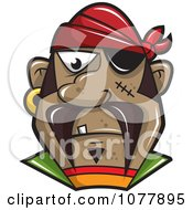 Clipart Pirate With An Eye Patch Royalty Free Vector Illustration