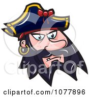 Clipart Pirate Face Royalty Free Vector Illustration by jtoons