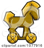 Clipart Wooden Trojan Horse Royalty Free Vector Illustration by jtoons