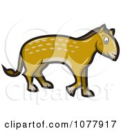 Clipart Prehistoric Horse Like Creature Royalty Free Vector Illustration by jtoons