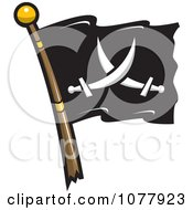 Crossed Swords Jolly Roger Pirate Flag