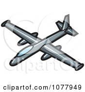 Clipart Spy Plane Royalty Free Vector Illustration