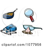 Clipart Spy Gear Royalty Free Vector Illustration by jtoons