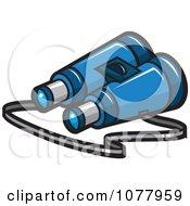 Clipart Spy Gear Binoculars Royalty Free Vector Illustration