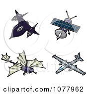 Clipart Spy Planes Royalty Free Vector Illustration