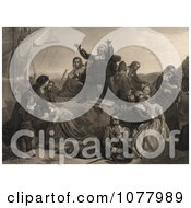 Pilgrims Preparing For Departure To America Royalty Free Historical Clip Art by JVPD