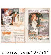 Front And Back Covers Of HarperS Bazar Thanksgiving Of 1894 Magazine Royalty Free Historical Clip Art by JVPD