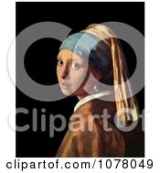 Girl With A Pearl Earring By Johannes Vermeer Royalty Free Historical Clip Art by JVPD