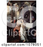 Man And Woman Embracing And Kissing Passionately Romeo And Juliet Royalty Free Historical Clip Art by JVPD
