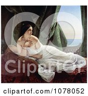 Odalisque Reclining Nude And Wrapped In A Sheet By Francesco Hayez Royalty Free Historical Clip Art