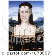 Portrait Of Elisabetta Gonzaga Wearing A Scorpion Diadem By Raphael Sanzio Royalty Free Historical Clip Art