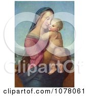Woman Holding A Baby Tempi Madonna By Raphael Royalty Free Historical Clip Art by JVPD #COLLC1078061-0002