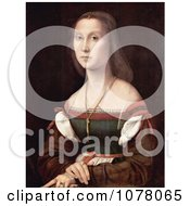Portrait Of A Young Woman Named La Muta By Raphael Royalty Free Historical Clip Art by JVPD