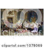 Parrots And Entertainers Performing For Empress Anna Anna Of Russia Queen Anna Royalty Free Historical Clip Art