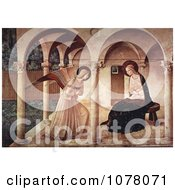 The Annunciation Mary Mother Of Jesus And Archangel Gabriel Royalty Free Historical Clip Art by JVPD