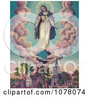 Miraculous Manifestaions Of The Virgin Mary Royalty Free Historical Clip Art