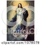 Mother Of Jesus Mary As The Immaculate Conception Royalty Free Historical Clip Art