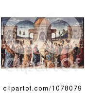 Jesus Christ Handing The Keys To Heaven To Apostle Peter Royalty Free Historical Clip Art