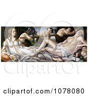 Painting Of The Gods Venus And Mars And Satyrs By Alessandro Botticelli Royalty Free Historical Clip Art