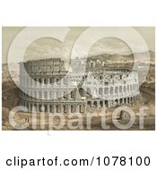 The Roman Coliseum Royalty Free Historical Clip Art by JVPD