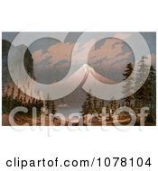 Mount Hood Royalty Free Historical Clip Art by JVPD