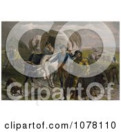 Emigrants Royalty Free Historical Clip Art by JVPD