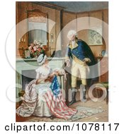 Betsy Ross Sewing The Flag Royalty Free Historical Clip Art