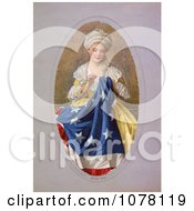 Betsy Ross Sewing The Betsy Ross Flag Royalty Free Historical Clip Art by JVPD