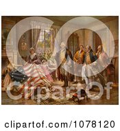 The Birth Of Old Glory Betsy Ross Flag Royalty Free Historical Clip Art by JVPD #COLLC1078120-0002
