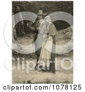 Puritans Going To Church Royalty Free Historical Clip Art
