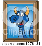 Blue Dragon School Mascot Portrait
