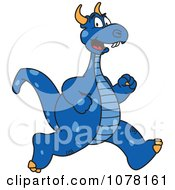 Blue Dragon School Mascot Running