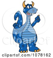 Blue Dragon School Mascot With An Idea