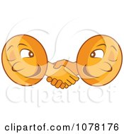 Poster, Art Print Of Two Coins Shaking Hands