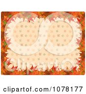Clipart Border Of Autumn Leaves Over A Pattern Royalty Free Vector Illustration