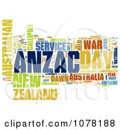 Clipart Colorful Anzac Day Word Collage Royalty Free Illustration by MacX
