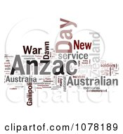 Clipart Gray Red And Black Anzac Day Word Collage Royalty Free Illustration
