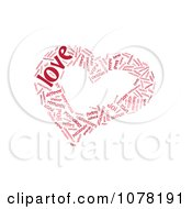 Clipart Red Heart Shaped Love Word Collage Royalty Free Illustration by MacX