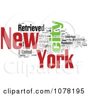 Clipart Colorful New York City Word Collage 1 Royalty Free Illustration by MacX