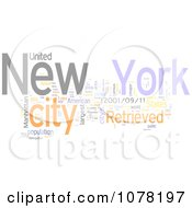 Clipart Colorful New York City Word Collage 2 Royalty Free Illustration by MacX