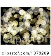 Clipart Golden Sparkly Bokeh Lights Background Royalty Free Illustration