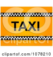 Clipart Gradient Orange Taxi Background Royalty Free Illustration